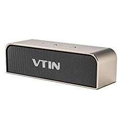 Vtin Royaler Premium Stereo Bluetooth 4.0 Speaker 20W Output with Aluminum Housing, Passive Radiator, Strong Bass for iPhone, Samsung