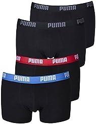 Puma Herren Shortboxer Basic Unterhosen 4er Pack in verschiedenen Farben 521025001