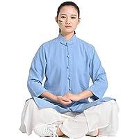 SCDXJ Mujeres Tai Chi Uniforme Ropa Algodón Y Lino Fitness Competencia Rendimiento Taijiquan Ejercicio Ropa Traje,Blue-S