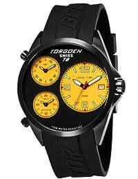 Torgoen T08305 - Reloj analógico de cuarzo para hombre con correa de plástico, color negro