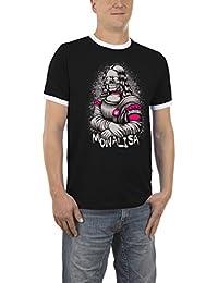 Touchlines Mona Lisa Skull Kontrast, T-Shirt Homme