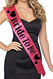Smiffy's Women's Bride To Be Sash, Pink and Black, One Size, 22357