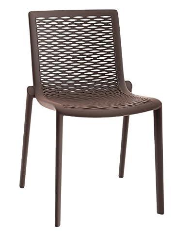 Resol chaise Netkat - couleur taupe, set de 2 unités