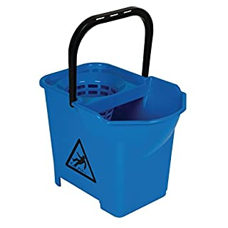 Jantex Colour Coded Mop Bucket with Handle, Blue, 14 L