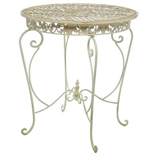 aubaho Table de jardin style antique fer blanc
