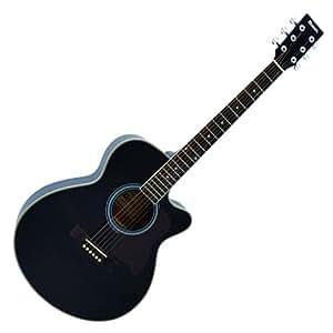 Dimavery 059287 JK-300 Coupe-Guitare acoustique Noir