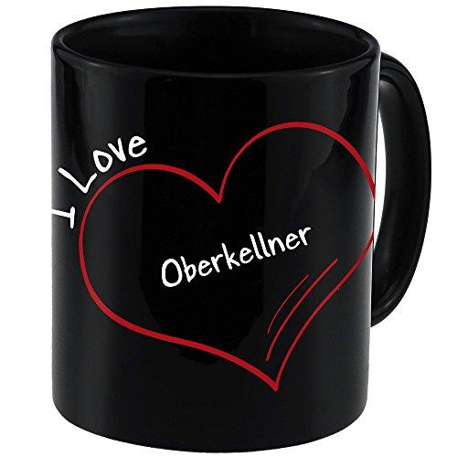 Tasse Modern I Love Oberkellner schwarz