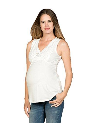 Love2Wait Still-Shirt Tunika Longtop - Spitze Naturfaser Tencel
