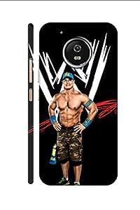 AMAN WWE John Cena 3D Back Cover for Moto G5