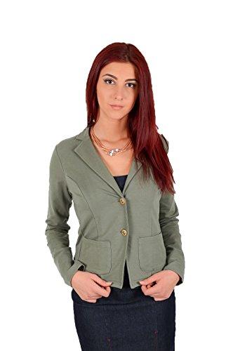 Trussardi jeans by trussardi - giacca da abito -  donna verde 48