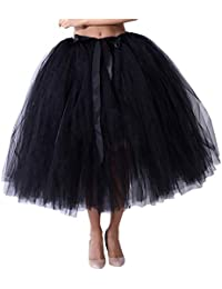 0a85c8272c87 Amphia - 80cm Damen schaukel mesh Tutu halblang Rock Prinzessin  Brautjungfer - Frauen Mesh TulleTutu Rock Brautjungfer Prinzessin Rock…
