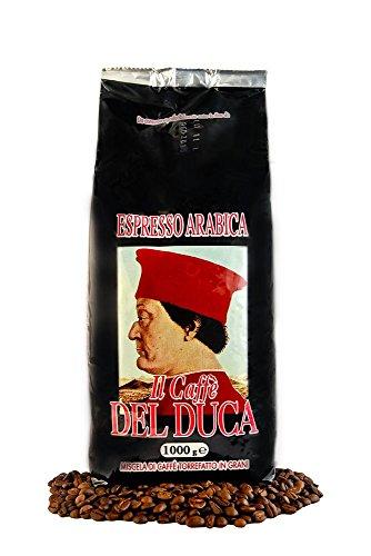 Del Duca Espresso Arabica - Italienische Espresso Bohnen, 1er Pack (1 x 1 kg)