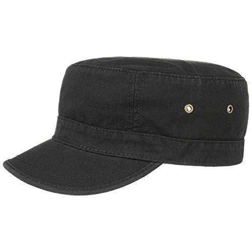 Lipodo Urban Army Cap Damen/Herren | Schirmmütze aus 100% Baumwolle | Armycap L/XL (58-X-Large) | Mütze in Schwarz | Größenverstellbar