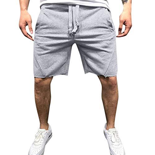TIMEMEAN Shorts Herren Beiläufig Joggen Gummizug In Der Taille Sport Kurze Hose -