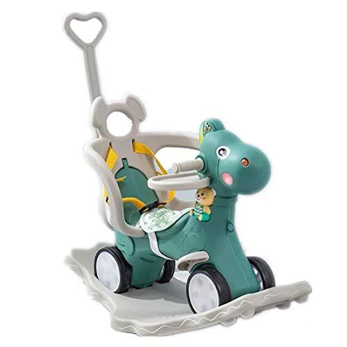 qwdf Neues Schaukelpferd aus Kunststoff für Kinder Wiegen Trojan Schaukelstuhl Kinderwagen Kinderauto Baby Geburtstagsgeschenk