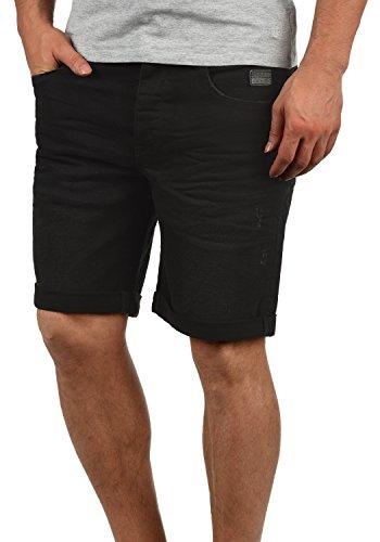 Blend Martels Herren Jeans Shorts Kurze Denim Hose Mit Destroyed-Optik Aus Stretch-Material Slim Fit, Größe:S, Farbe:Denim Black (76204) 5-pocket Cord-jeans