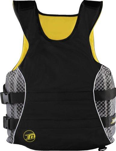 Preisvergleich Produktbild MESLE Schwimmweste WindSUP, schwarz-gelb (L-XL / 70+ kg)