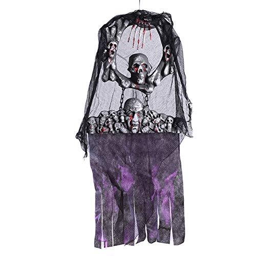 JINRU Hängende Skelett Ghost Halloween Haunted Haus Prop Dekor/Mit LED-Augen Für Halloween Haunt Dekor Halloween-Dekoration/Es Kann Überall Platziert Werden, Um Jemanden Zu Erschrecken.