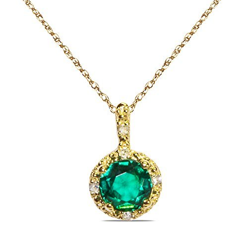 025ct-diamond-with-created-emerald-in-10k-yellow-gold-in-pendant-with-complimentary-18-chain-by-niss