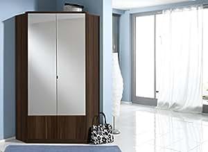 Germanica IMAGE 2 portes miroir Armoire d'angle Couleur noyer