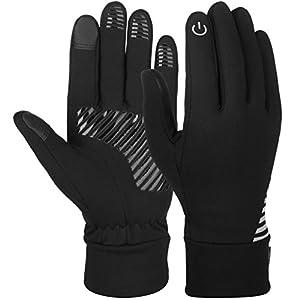Vbiger Herren Handschuhe Touchscreen Handschuhe SMS Handschuhe Laufenhandschuhe Sport Handschuhe für Winter