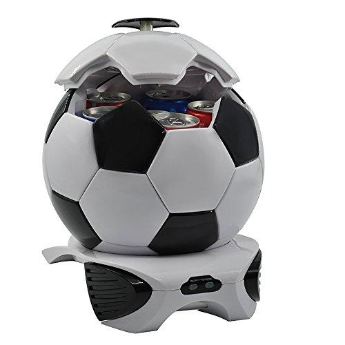 CAPTIANKN Tragbare 12V Fußball-Form Auto Kühlschrank Kühlung & Heizung Funktion Im Freien Mini Kühlschrank - 3.5L Kapazität (3.5L)