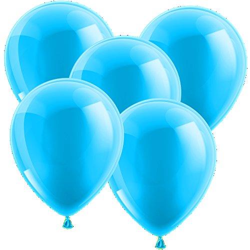 20x Ballon Luftballons Glänzend Latexballons Gummiballons - EUROPÄISCHE PREMIUMQUALITÄT - Freie Farbauswahl - auf jedem Geburtstag der Hingucker! (Hellblau)