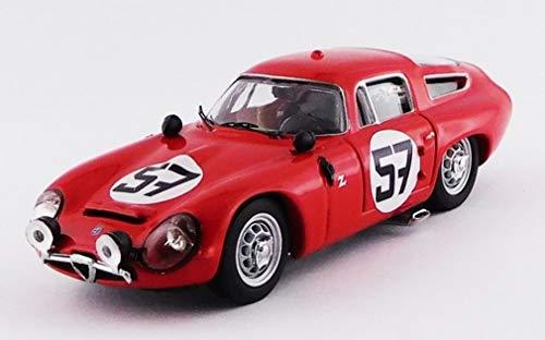 Best- Alfa Romeo TZ1-Le Mans 1964-Brújula/Deserti R.R. 13th 1st in GT1.6 Modellino, Color Rojo, BEST9132/2