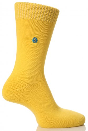 SockShop Farbexplosion Baumwoll-Socken für Damen - Damen 08.04 - Senf