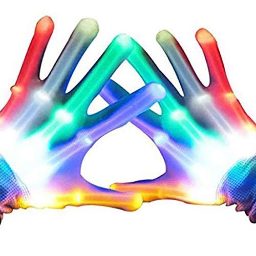 Syolee LED-Lichthandschuhe mit Blinkenden Skelett-Handschuhen für Clubs, Raves, Festivals, Halloween, Lagerfeuer, Party-Spiele, ideal für Jungen und Mädchen (Halloween-party Eine Spiele Für)