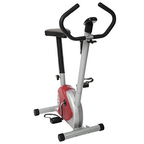 Tomasa Fitness Heimtrainer Hometrainer Haus Büro Fitnessbike Stationäre Fahrrad Trimmrad Lenker Breite: 44.5cm, Fahrrad Gesamtlänge: 71cm (Weiß)