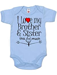 IiE, I love my Brother & Sister this much, Baby Unisex, Bodysuit