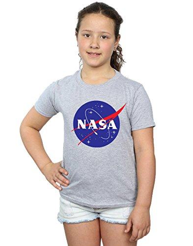 Nasa niñas Classic Insignia Logo Camiseta 12-13 Years Gris Sport
