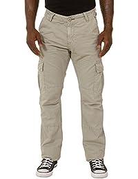 Herren Cargohose - Grau Combat Hose mit vielen Tasche ALFIEGRAY
