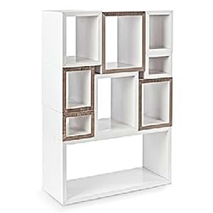 LADP 3802 blockbox, étagères en carton, 32 x 79 x 37 cm (blanc)