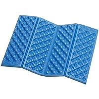 Natthom húmedo escalada portátil de espuma pequeña impermeable XPE puntos picnic plegable cojines (blue)