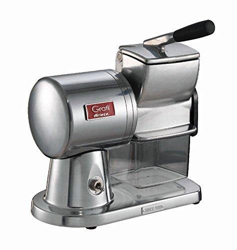 Ariete 449 gratì superior - grattugia elettrica professionale in alluminio pressofuso per formaggio, pane, cioccolata, frutta secca - argento spazzolato lucido