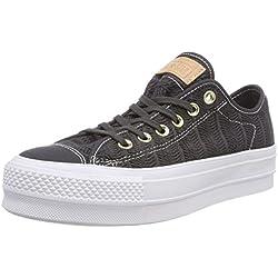 Converse CTAS Lift OX Almost Black, Zapatillas para Mujer, Negro 049, 40 EU