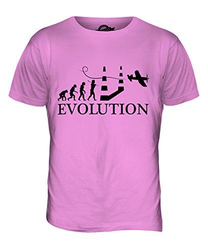 CandyMix Luftrennen Air Race Evolution Des Menschen Herren T Shirt Rosa
