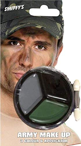 ter Armee Krieg Militär Gesichtsfarbe Make-Up Satz Kostüm Verkleidung Zubehör ()