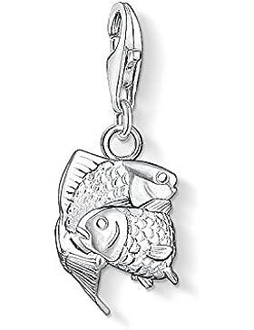 THOMAS SABO Damen Charm-Anhänger Sternzeichen Fische 925er Sterlingsilber 0595-001-12