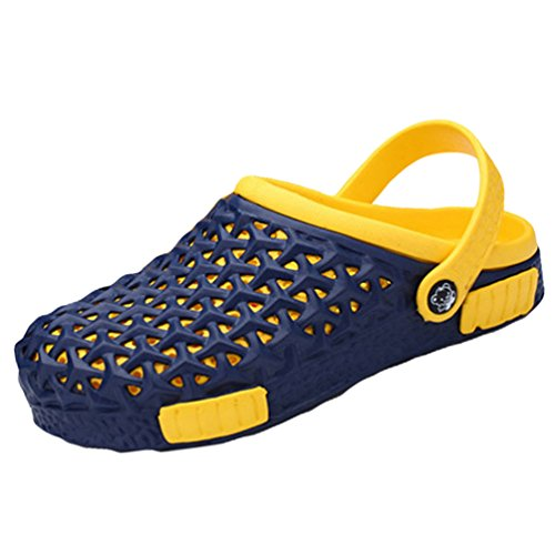 YOUJIA Unisex Clogs Atmungsaktiv Pool Gartenschuhe Sommer Sandalen Hausschuhe Strand Aqua Slippers #3 Blau