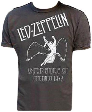 T-Shirt Led Zeppelin grau USA 77S T-Shirt (Größe Small)