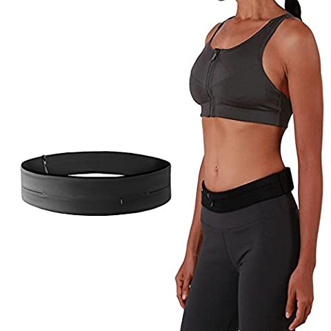 ANGTUO Hüfttasche, Lauftasche, Running Belt Waist Pack - The Fourth Generation Zipper Anti-theft, 3-Pocket Fitness Belt Put Mobile Phone / Money / Key Suitable for Fitness, Travel, Walking, Jogging, Yoga, Riding, Mountaineering Sports Outdoor Activities