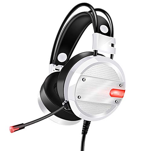 JIANPANHD Gaming-Kopfhörer für Computer PC Spiele, kabelgebunden, HD Bass USB Gaming Headset mit Mikrofon
