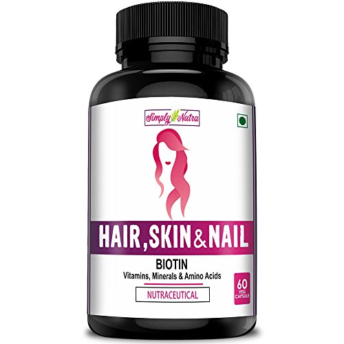 [Sponsored]Simply Nutra Biotin 5,000 Mcg For Hair Skin & Nails With Multivitamin, Minerals And Amino Acid Supports Hair Growth...