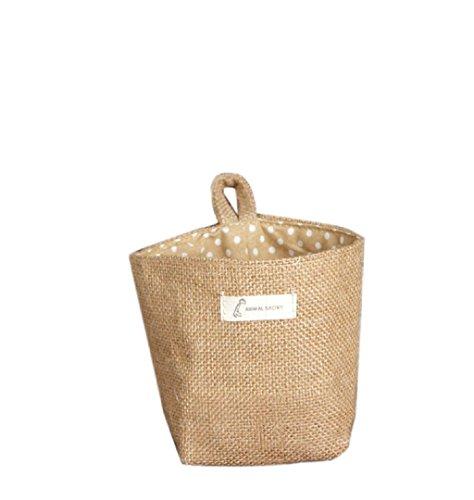 Dot piccolo ripostiglio sacco di tela tessuta Hanging Basket archiviazione non,Fami - 16 Art Outdoor Tela
