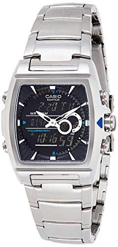 Casio EDIFICE Reloj en caja sólida, 10 BAR, Negro, para Hombre, con Correa de Acero inoxidable, EFA-120D-1AVEF...