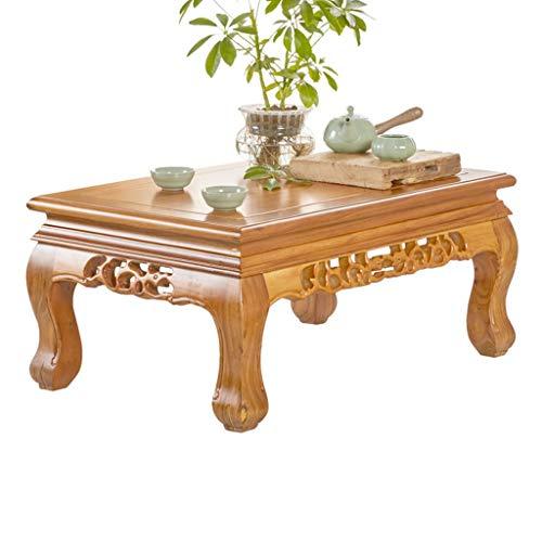 Tavolini legno massiccio tavolo da tè cinese olmo tatami finestra tavolo comodino (color : brown, size : 70 * 45 * 31cm)