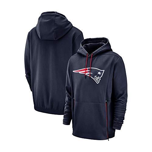 American Football Herren Hoodies Für New England Patriots Beiläufiges Sweatshirt Pullover Fans Trikots for Erholung (Color : Blue, Size : XL)